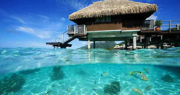 ... bungalows which are located closest to the coral barrier reef