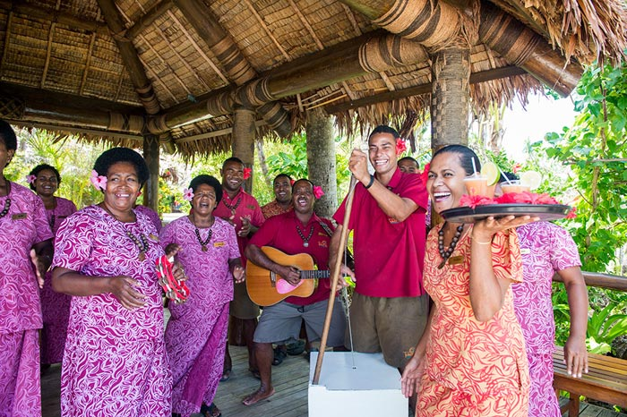 Fijian choir wedding